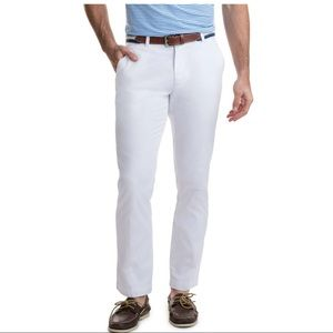 VINEYARD VINES White Cotton Slim Fit Breaker Pants